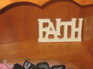 """Faith"" sign"